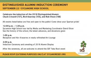 Distinguished alumni induction ceremony