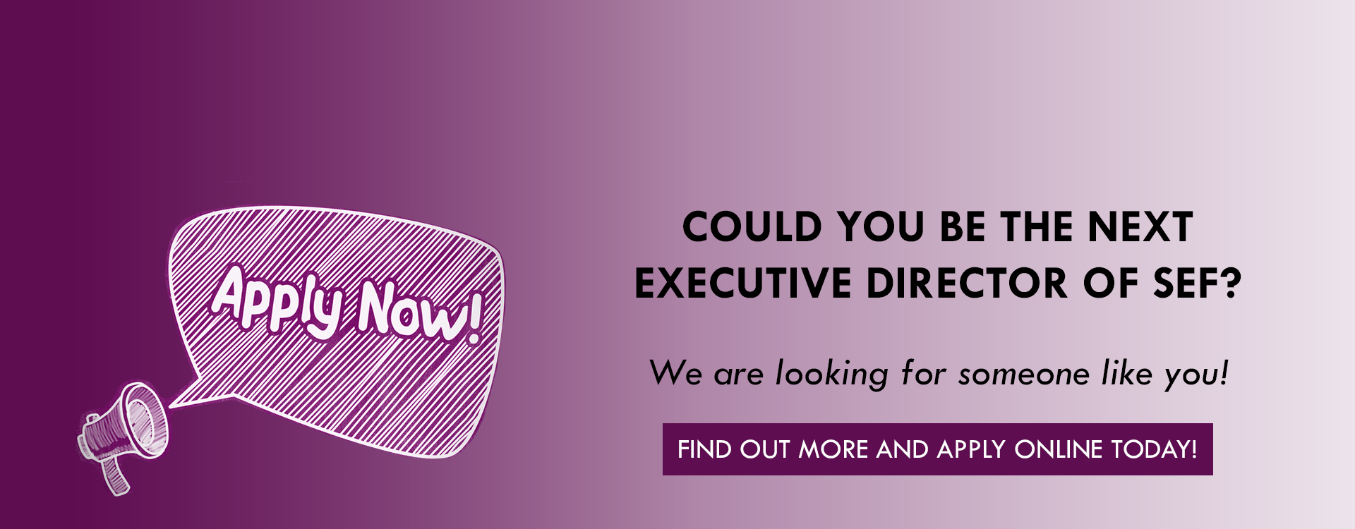 SEF is hiring for an executive director! Apply today!